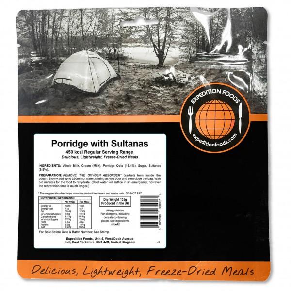 Expedition Foods - Porridge With Sultanas (Regu...