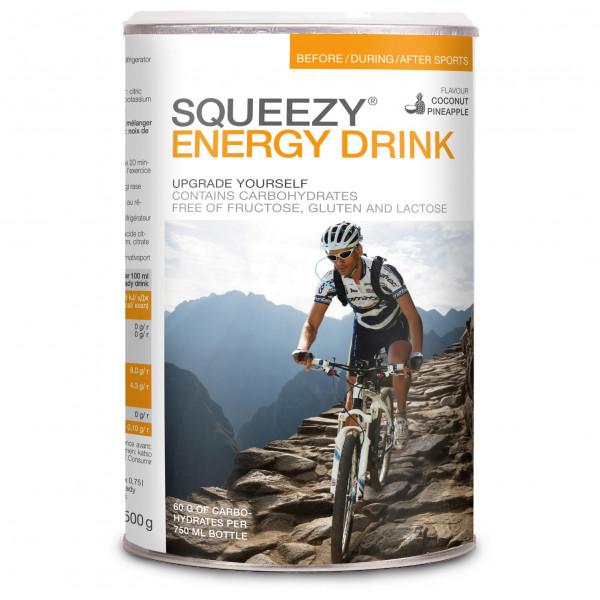 Squeezy - Energy Drink Kokosnuss-Ananas - Energiegetränk