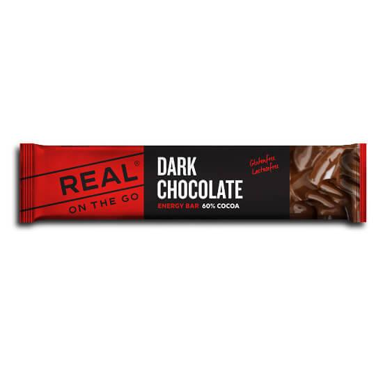 #Real Turmat – Dark Chocolate – Energieriegel Gr 25 g schwarz/rot#