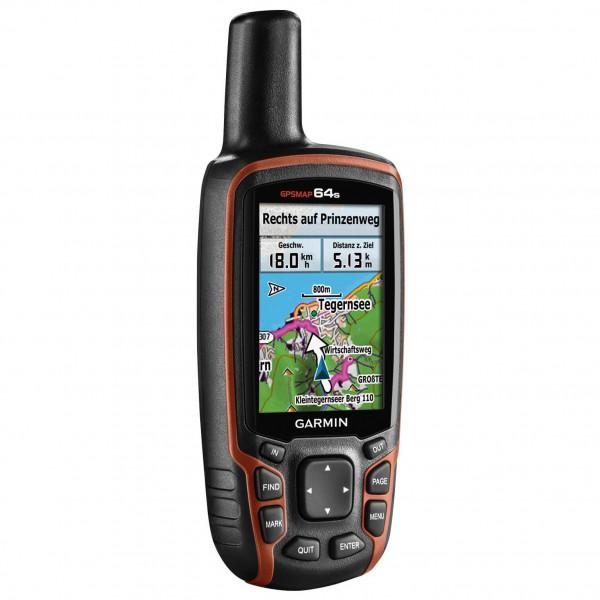 Garmin - GPSMAP 64s - GPS-Gerät schwarz/orange