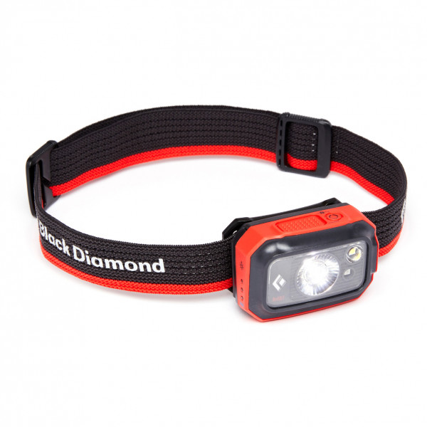 Black Diamond - Revolt 350 Headlamp - Head Torch Black/grey/red
