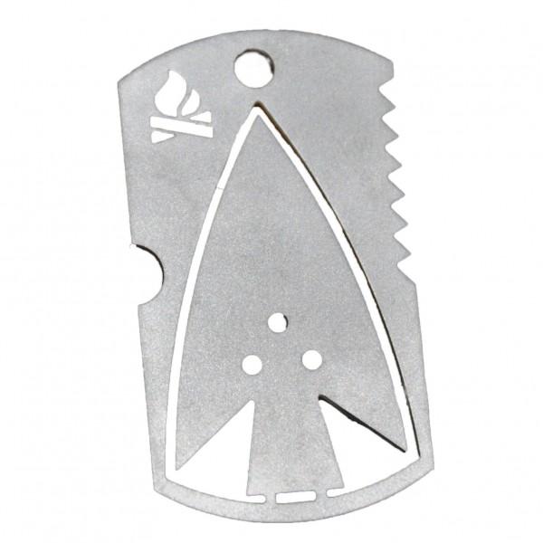 Bushcraft Essentials - Dog Tag - Messer metallic BCE-003
