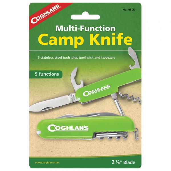 Coghlans - Taschenmesser 'Camp Knife' - Messer Gr 5 Funktionen grün/ silber 389505