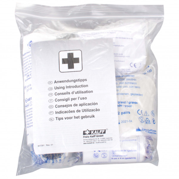 Kalff - Nachfllset Erste Hilfe-standard - First Aid Kit Farblos