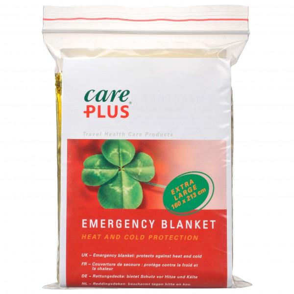 Care Plus - Emergency Blanket - Survival Blanket Size 160 X 213 Cm  Gold /grey