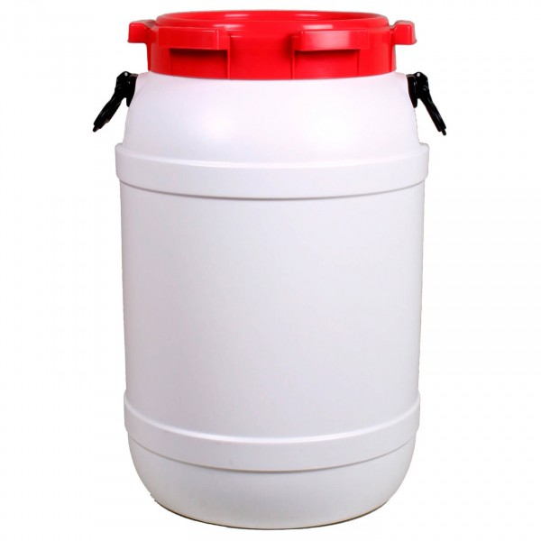 Image of Basic Nature Weithalstonne Rund Packsack Gr 10,4 l;15,4 l;20 l;26 l;3,6 l;41,5 l;54 l;6,4 l;68,5 l grau/weiß/rot;rot/grau/weiß;grau/rot/weiß;grau/rot;grau/weiß