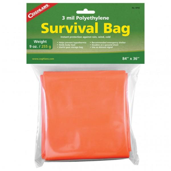 Coghlans - Survival Bag - Biwaksack Gr 210 x 90 cm Orange/Grün 388765