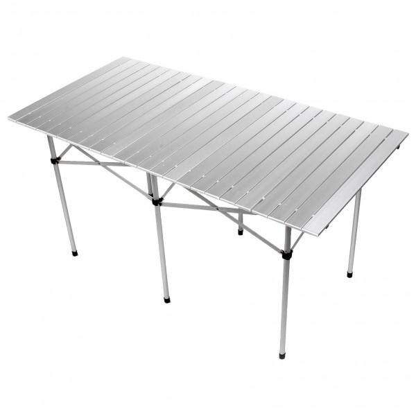Basic Nature - Travelchair Rolltisch Alu - Campingtisch Gr 140 x 70 cm grau 591505