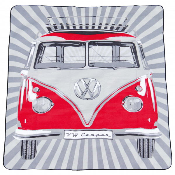VW Collection - VW T1 Bus Picknickdecke - Picknickdecke Gr 150 x 200 cm grau BUPB01