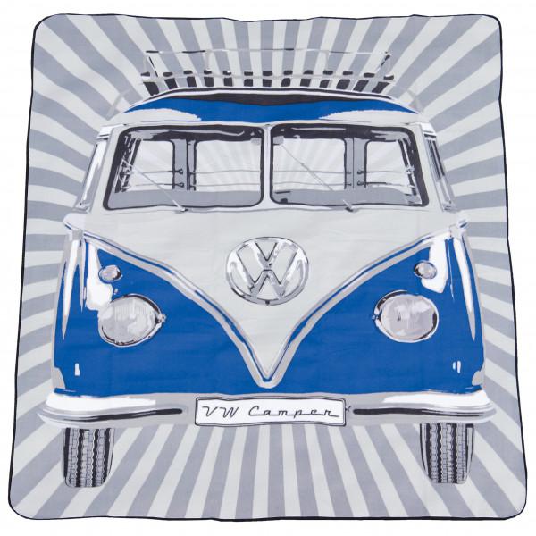 VW Collection - VW T1 Bus Picknickdecke - Picknickdecke Gr 150 x 200 cm grau BUPB02