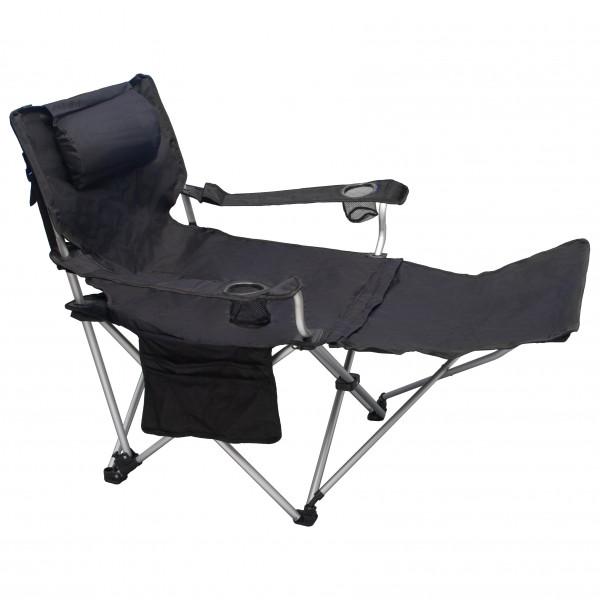 Basic Nature - Travelchair Luxus - Campingstuhl schwarz/grau 591502
