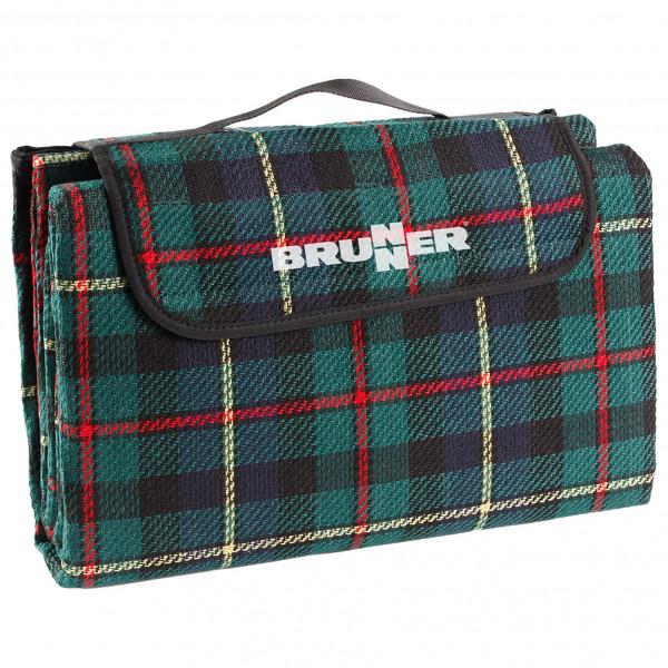 Brunner - Picnic Plaid - Picknickdecke Gr 200 x 150 cm schwarz/türkis 0428052N