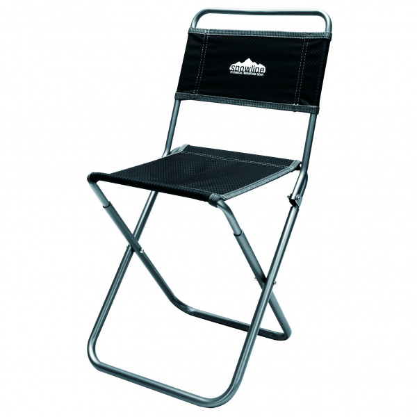 Snowline - Klappstuhl Alpine Slim Chair XL - Campingstuhl schwarz/grau 3917-500