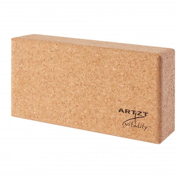 ARTZT vitality - Kork Yogablock - Yogablock Gr 22,7 x 12 x 6,5 cm beige LA-1007