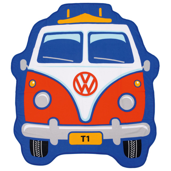 VW Collection - VW T1 Bus Kinder Strandtuch - Badehandtuch Gr One Size rot BGG1694