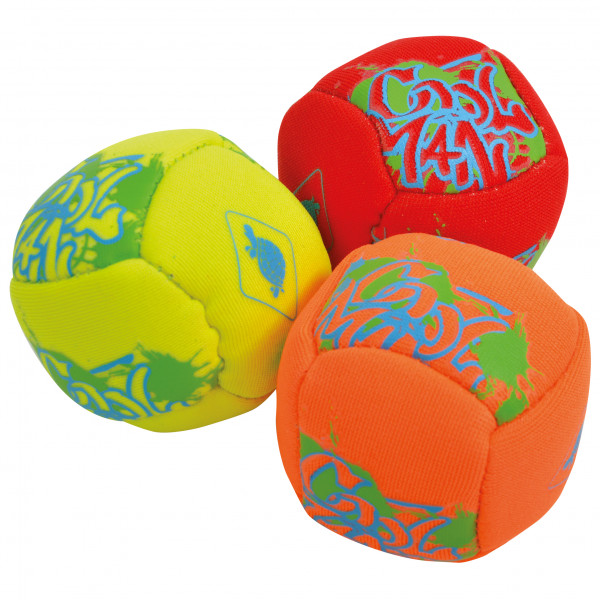 *Schildkröt Fun Sports – Neopren Mini-Fun-Bälle (Footbags) neon gelb /rot*