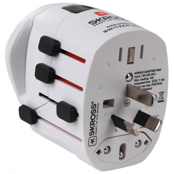 Skross Adapter World Pro + Schuko Stekkeradapter Standard