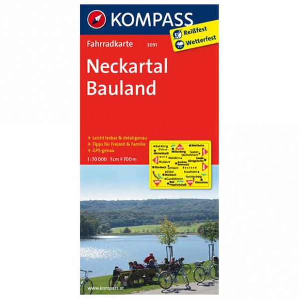 Kompass - Neckartal - Radkarte