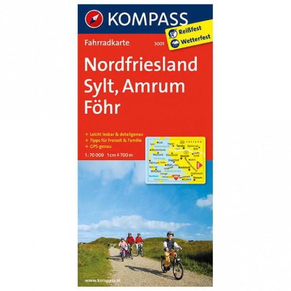 Kompass - Nordfriesland - Radkarte ISBN 978-3-85026-544-7