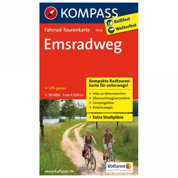 Kompass - Emsradweg - Radkarte