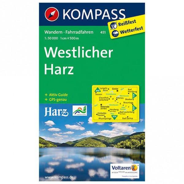 Kompass - Westlicher Harz - Wanderkarte