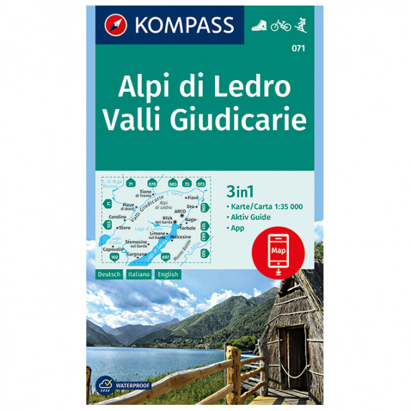 #Kompass – Alpi di Ledro, Valli Giudicarie – Wanderkarte 1. Auflage – Neuausgabe#