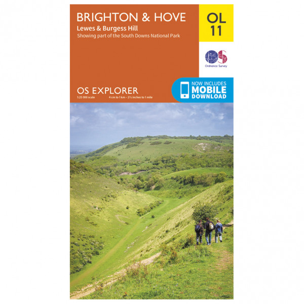#Ordnance Survey – Brighton / Hove / Lewes / Burgess Hill Outdoor EGMOL011 – Wanderkarte Ausgabe 2015#