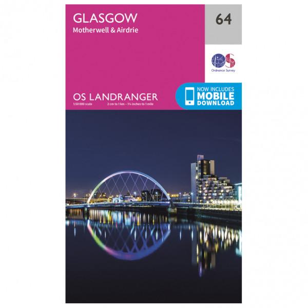 #Ordnance Survey – Glasgow L064 – Wanderkarte Ausgabe 2017#