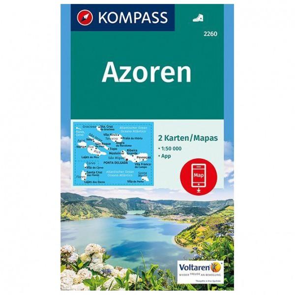 Kompass - Azoren - Wanderkarte Karte / Gefaltet...