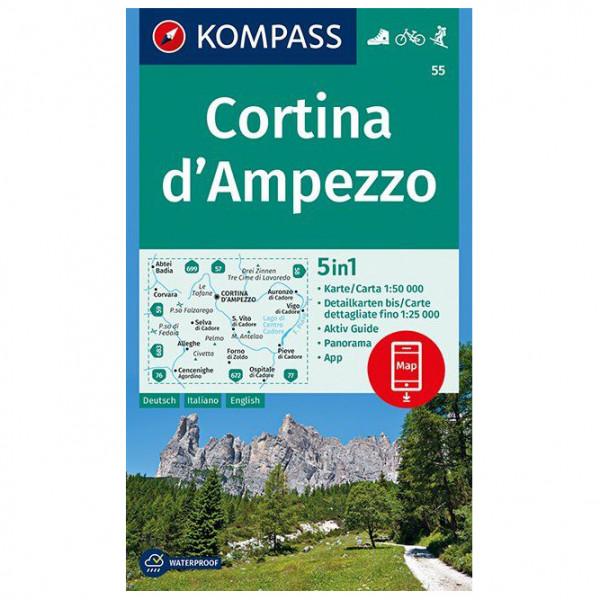 #Kompass – Cortina d'Ampezzo – Wanderkarte Karte / Gefaltet#
