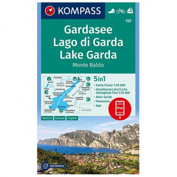#Kompass – Gardasee, Lago di Garda, Lake Garda, Monte Baldo – Wanderkarte Karte / Gefaltet#