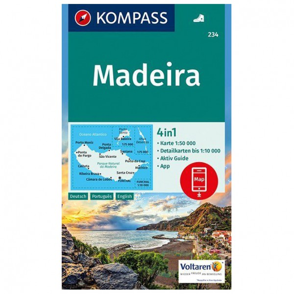 Kompass - Madeira Karte - Wanderkarte Karte / G...