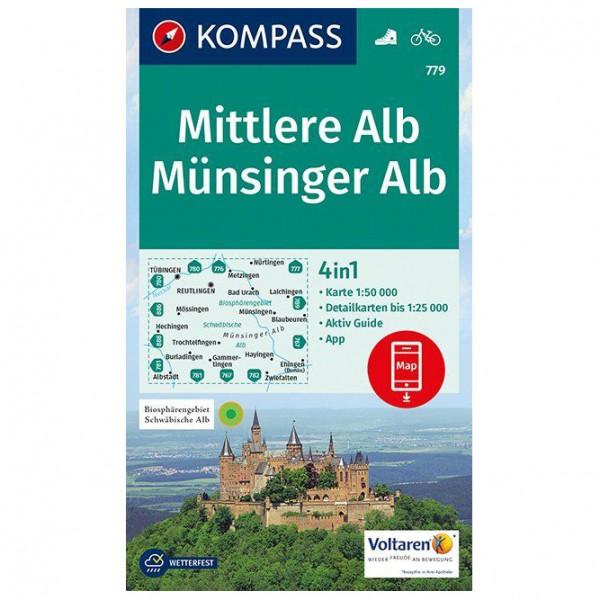*Kompass – Mittlere Alb, Münsinger Alb – Wanderkarte Karte / Gefaltet / Geklebt*