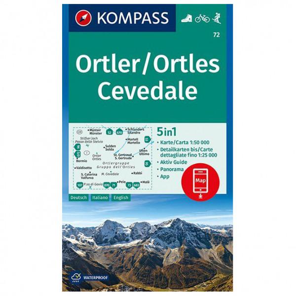 #Kompass – Ortler/Ortles, Cevedale – Wanderkarte Karte / Gefaltet / Kunststoff#