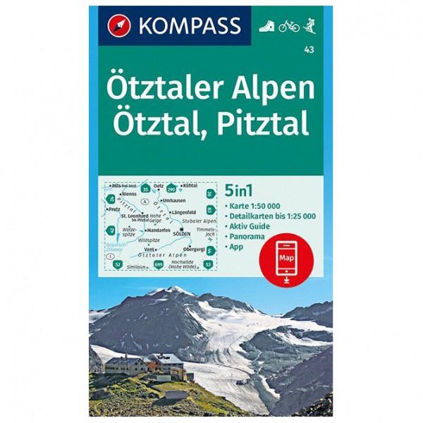 Kompass - Ötztaler Alpen, Ötztal, Pitztal - Wanderkarte Karte / Gefaltet 978-3-99044-440-5