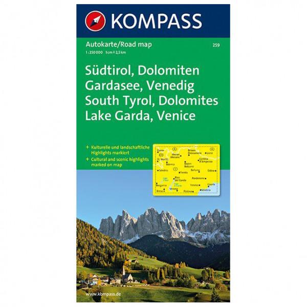*Kompass – Südtirol, Dolomiten, Gardasee, Venedig – Wanderkarte Karte / Gefaltet / Pappband*