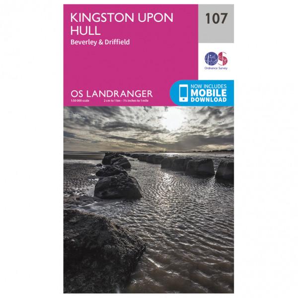 #Ordnance Survey – Kingston Upon Hull L107 – Wanderkarte Ausgabe 2016#