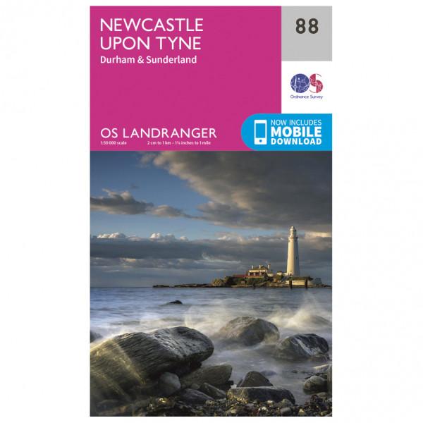 *Ordnance Survey – Newcastle Upon Tyne L088 – Wanderkarte Ausgabe 2016*