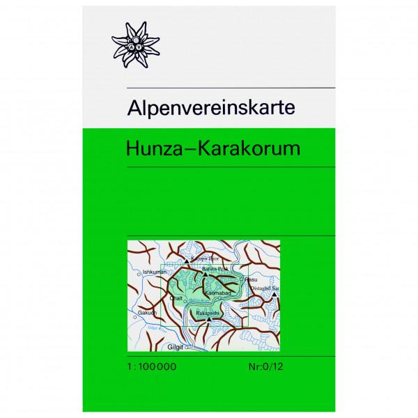 DAV - 0/12 Hunza Karakorum - Wanderkarte 1. Auflage 1995 978-3-937530-70-3