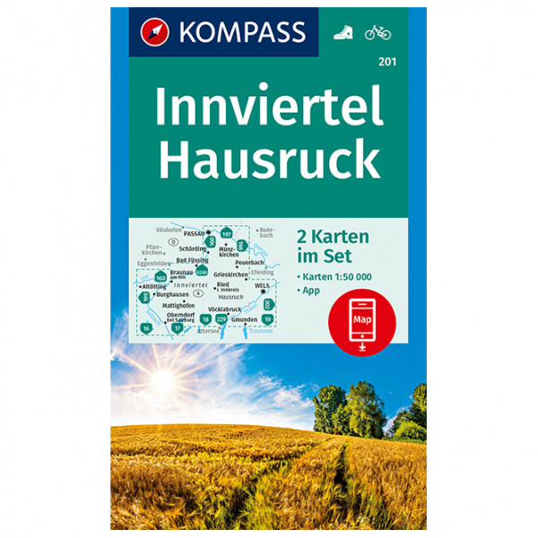 #Kompass – Wanderkarte Innviertel Hausruck – Wanderkarte 1. Auflage 2019#