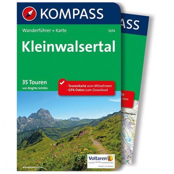 #Kompass – Kleinwalsertal – Wanderführer Flexibler Einband Mit Umschlagklappen#