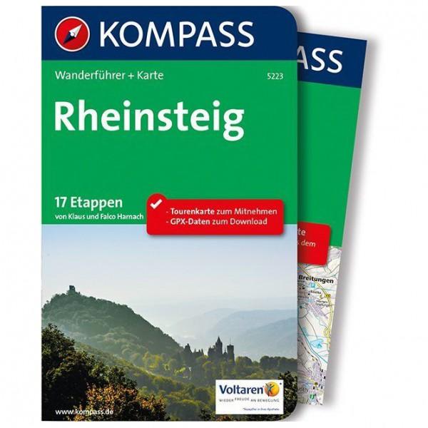 #Kompass – Rheinsteig – Wanderführer Flexibler Einband Mit Umschlagklappen#