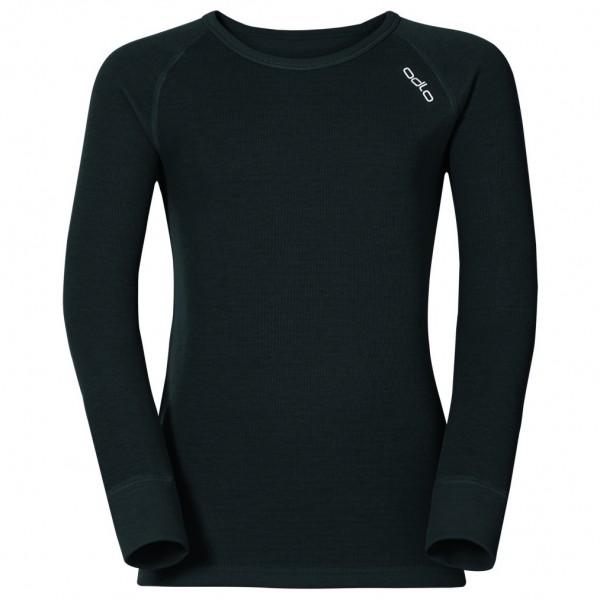 Odlo - Kid´s Shirt L/S Crew Neck Warm - Longsleeve Gr 92 schwarz Preisvergleich