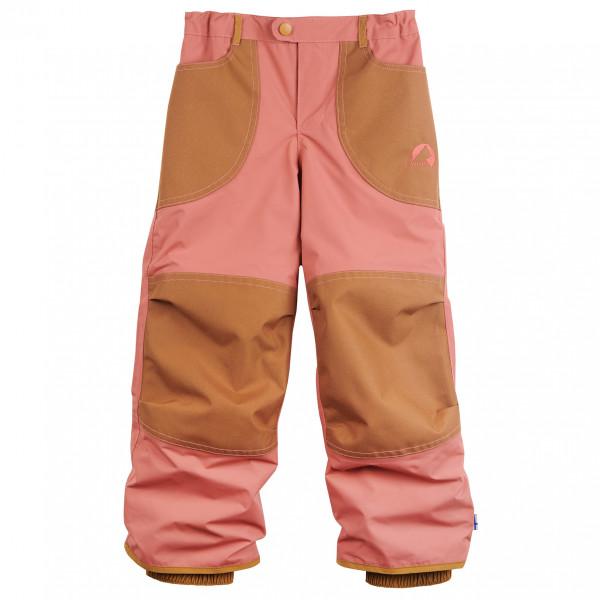 Finkid - Kid's Tobi - Regenhose Gr 130/140 rot/braun 1322009206416