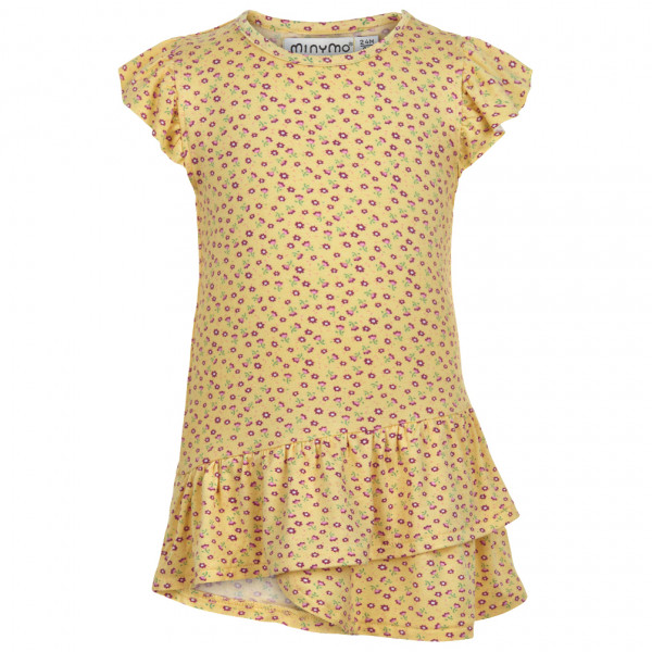 #Minymo – Kid's Tunic Ns AOP – Kleid Gr 104;110;116;80;86;92;98 beige#