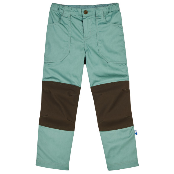 Finkid - Kids Kalle - Walking Trousers Size 140/150  Turquoise/brown