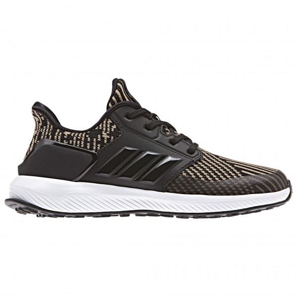 adidas Kid´s RapidaRun Knit C Runningschoenen maat 35 zwart-grijs-wit