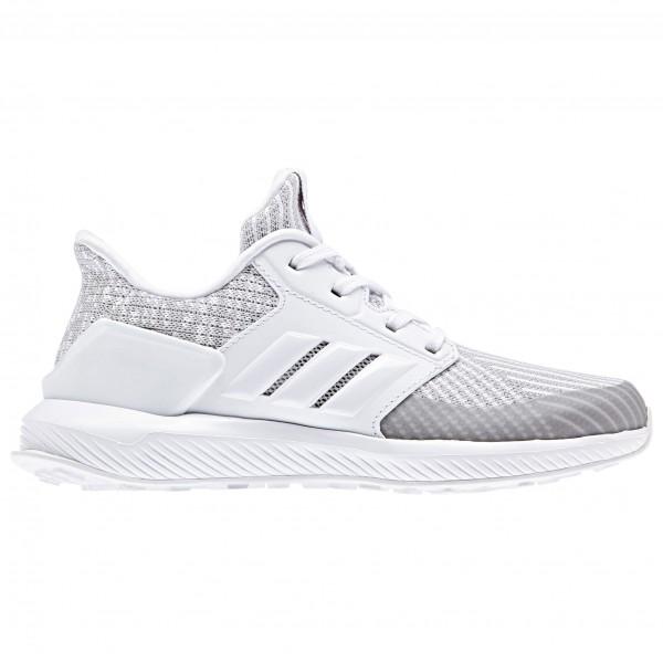 adidas Kid´s RapidaRun Knit C Runningschoenen maat 35 grijs-wit