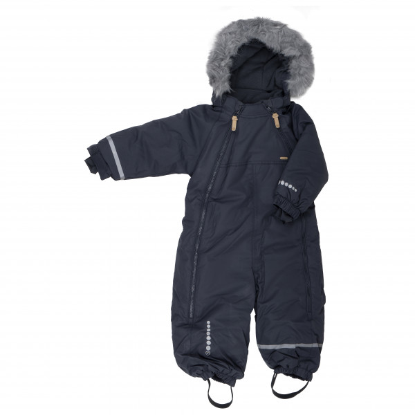 #Minymo – Kid's Snowsuit Tussor Solid with 2 Zip – Overall Gr 98 schwarz/grau#