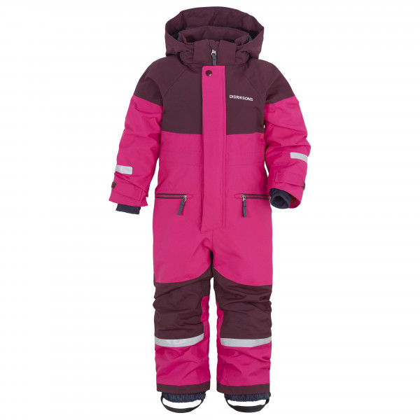 Didriksons - Kids Cornelius Coverall 2 - Overall Size 90  Pink/purple